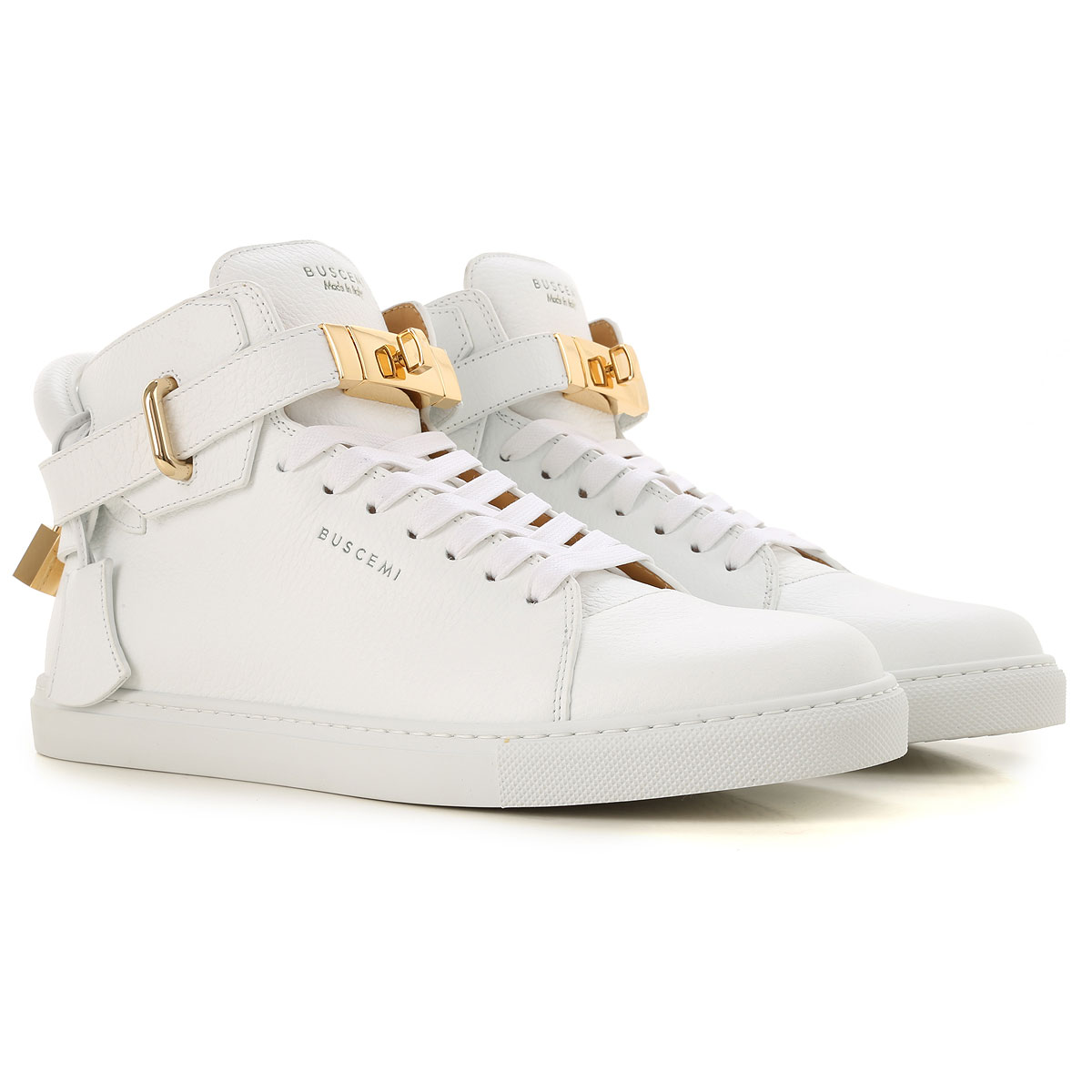 Image of Buscemi Mens Shoes, White, Leather, 2017, 10 10.5 6.5 7.5 8 9
