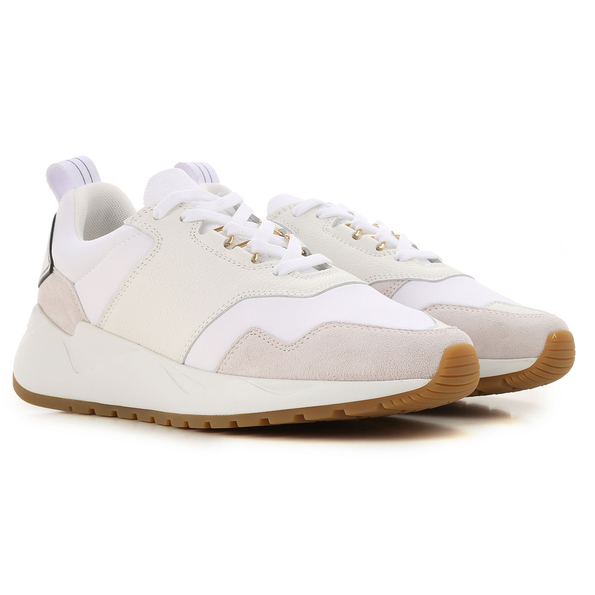 Image of Buscemi Sneakers for Women, White, Neoprene, 2017, 10 6 7 8