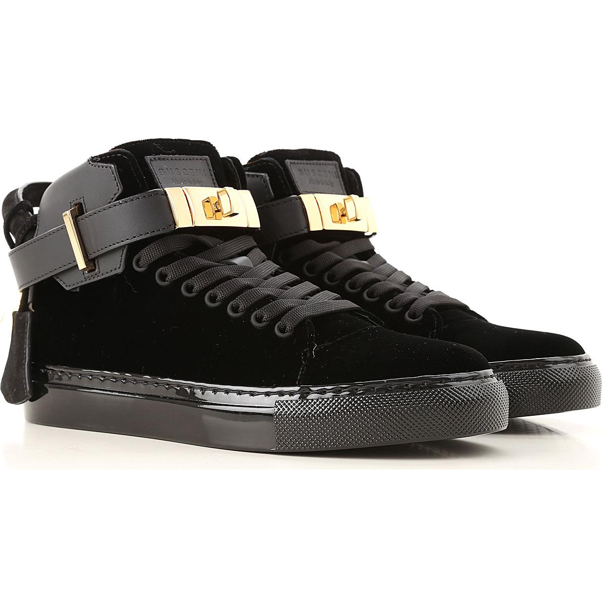 Image of Buscemi Womens Shoes, Black, Velvet, 2017, 10 11 5 6 7 8 9