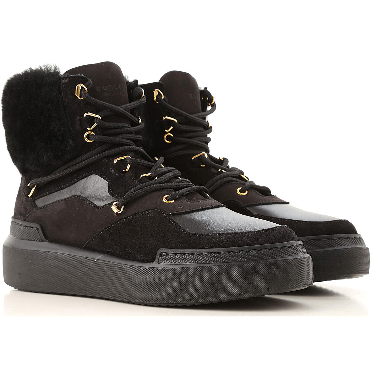Image of Buscemi Sneakers for Women, Black, Leather, 2017, 10 5 6 7 8 9