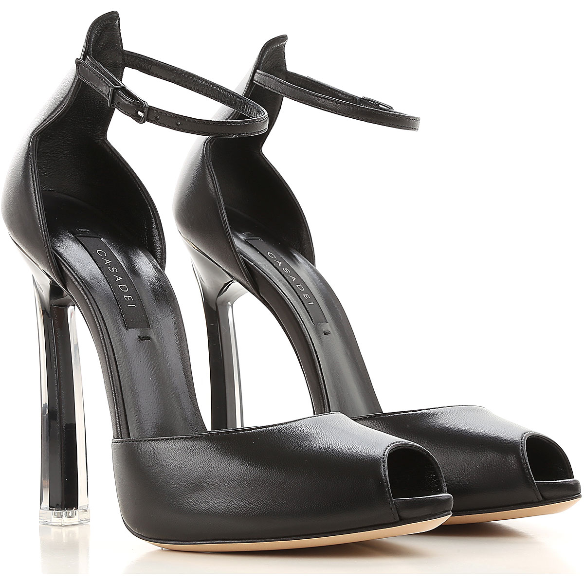 Image of Casadei Womens Shoes On Sale, Black, Leather, 2017, 5 6 8 8.5