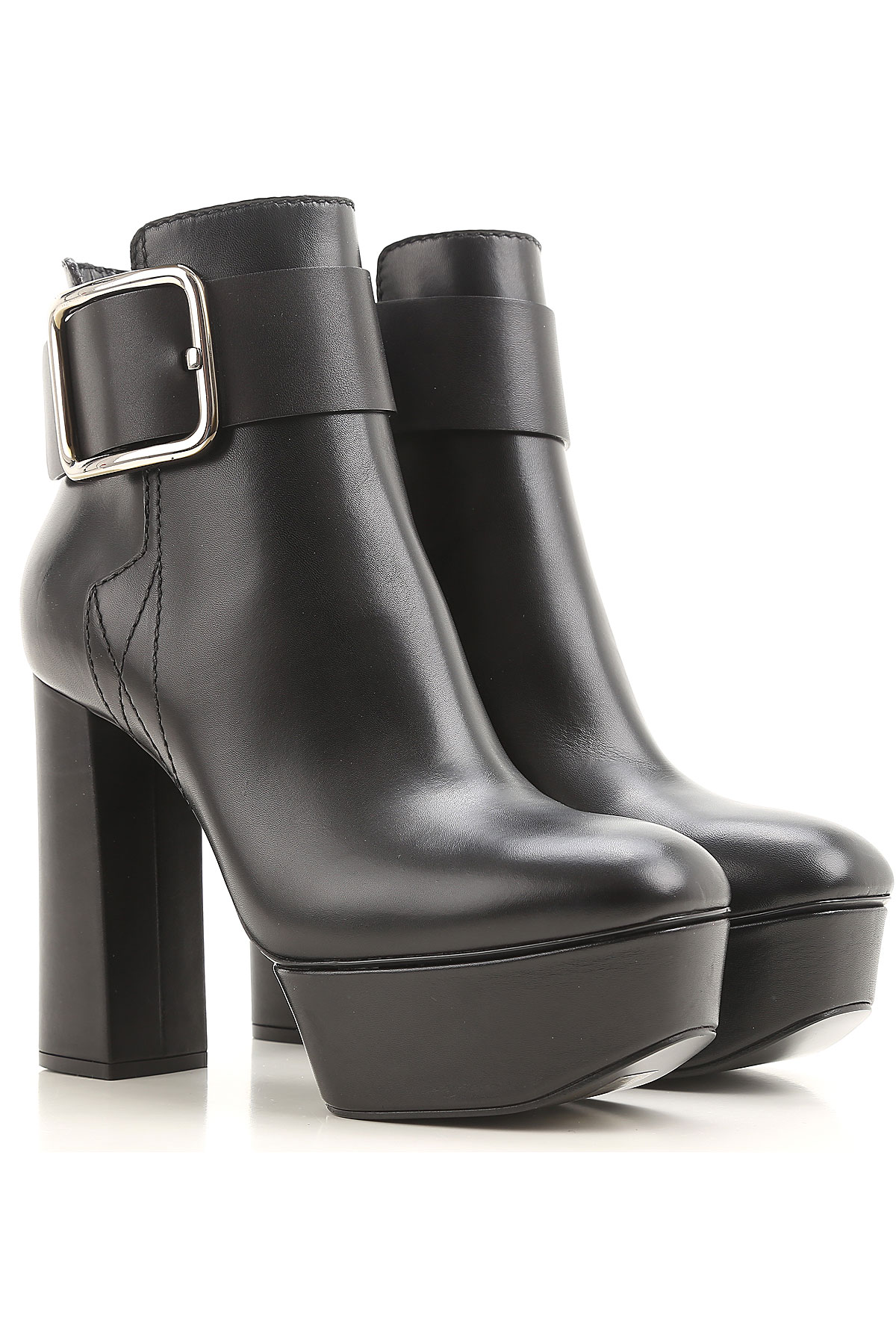 Image of Casadei Boots for Women, Booties On Sale in Outlet, Black, Leather, 2017, 10 5 8.5 9