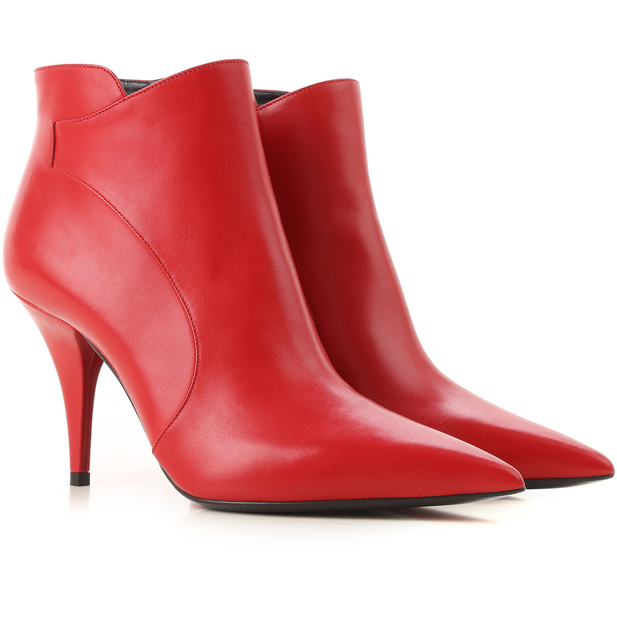 Image of Casadei Boots for Women, Booties, Red, Leather, 2017, 10 6.5 7 8 8.5
