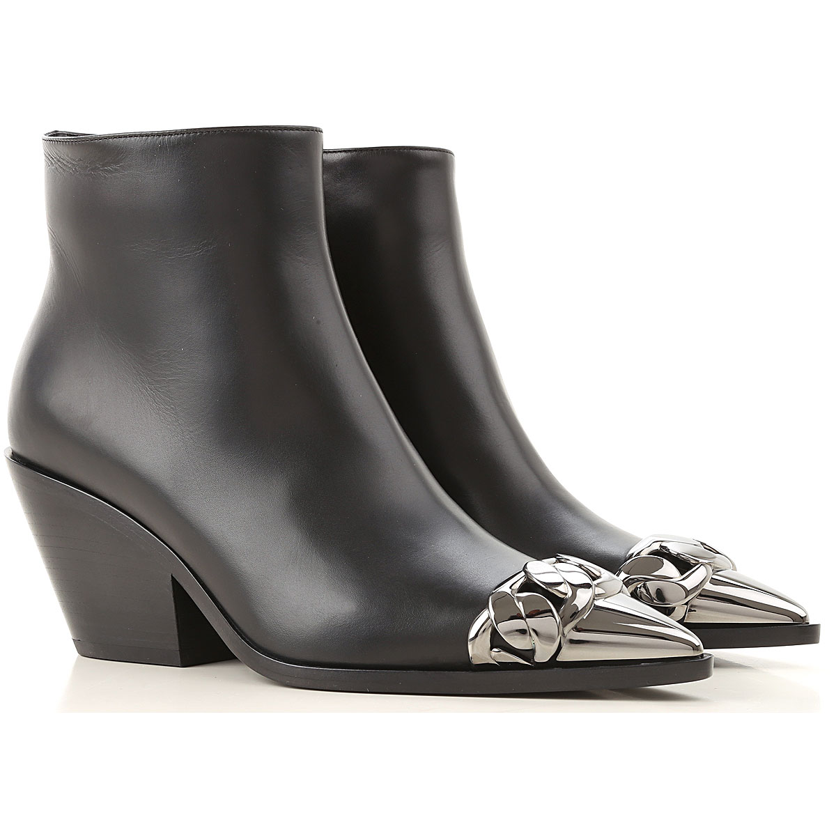 Casadei Boots for Women, Booties On Sale, Black, Leather, 2019, 10 6