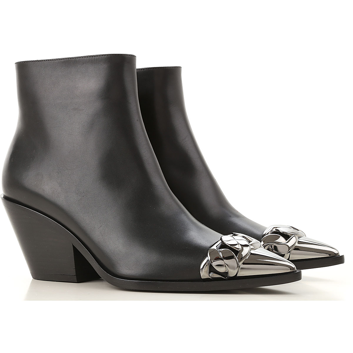 Casadei Boots for Women, Booties On Sale, Black, Leather, 2019, 10 7