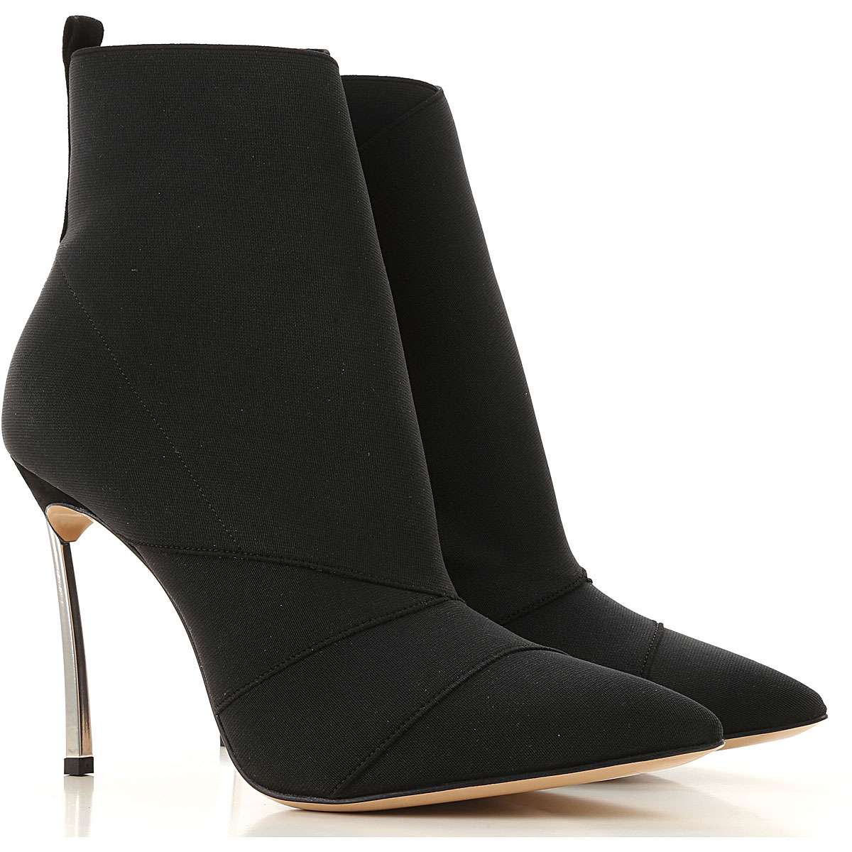 Casadei Boots for Women, Booties On Sale, Black, Elasticized Fabric, 2019, 10 6 6.5 9 9.5