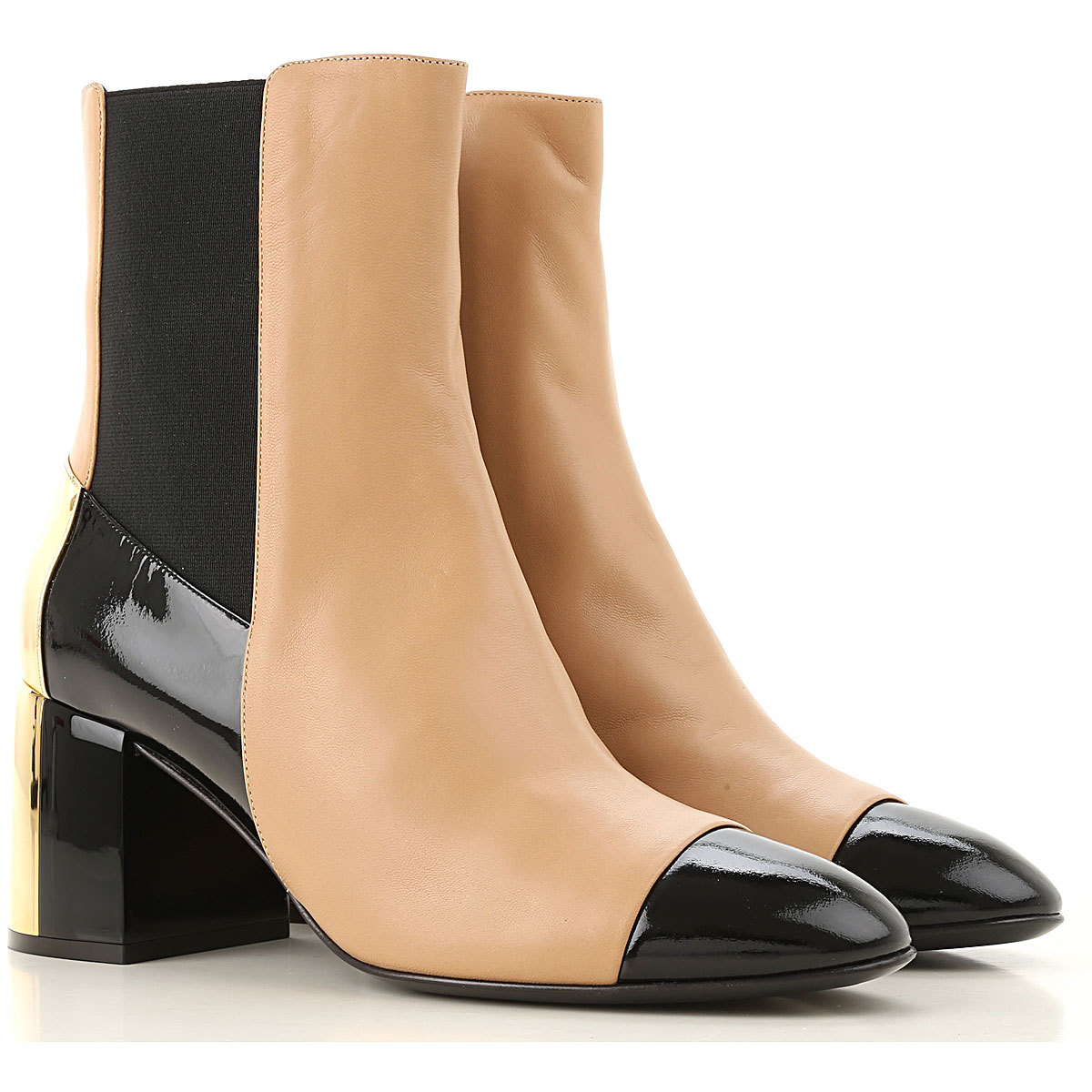 Casadei Boots for Women, Booties On Sale, Nude, Leather, 2019, 6 7 8 9