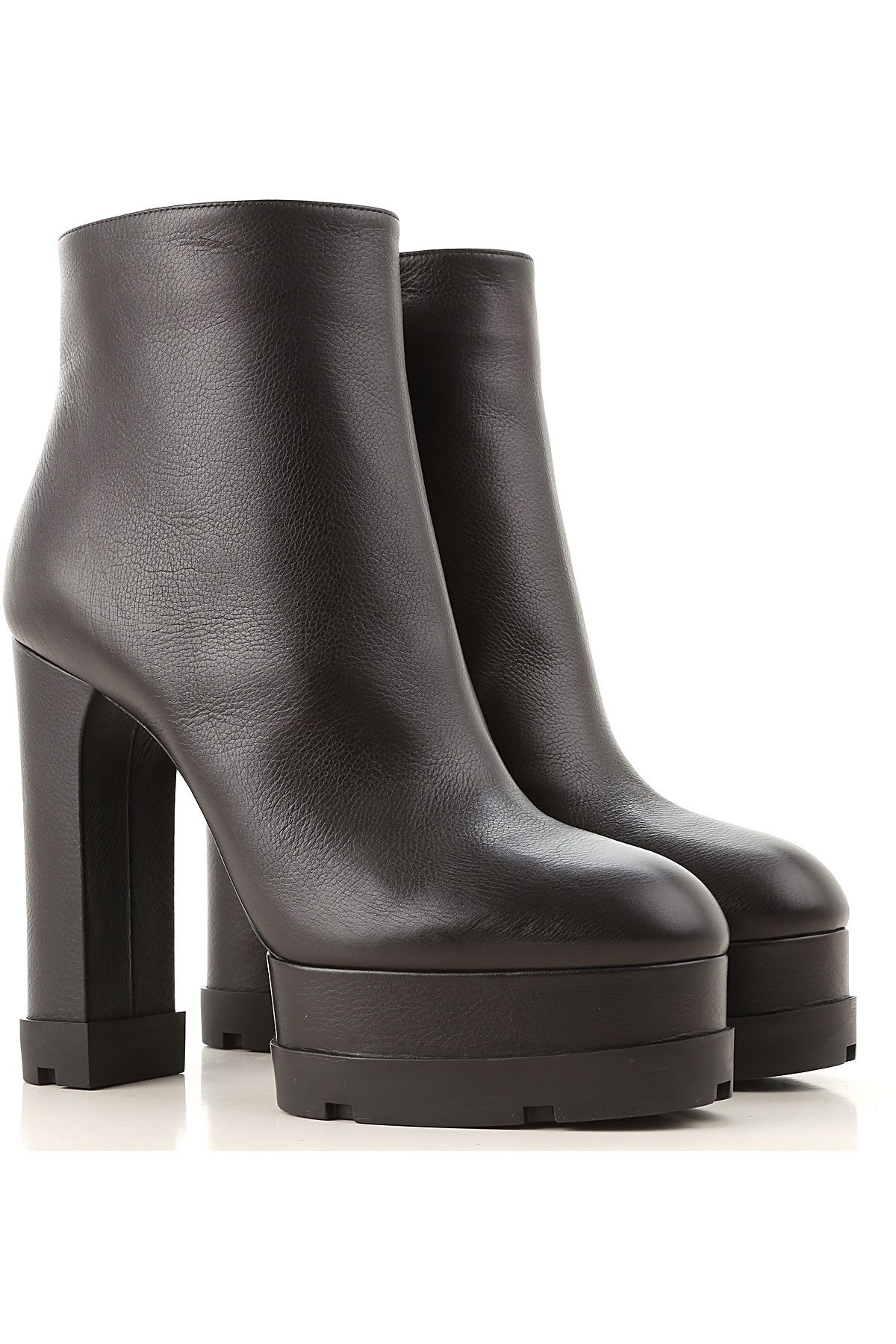 Casadei Boots for Women, Booties On Sale, Black, Leather, 2019, 5 8 9
