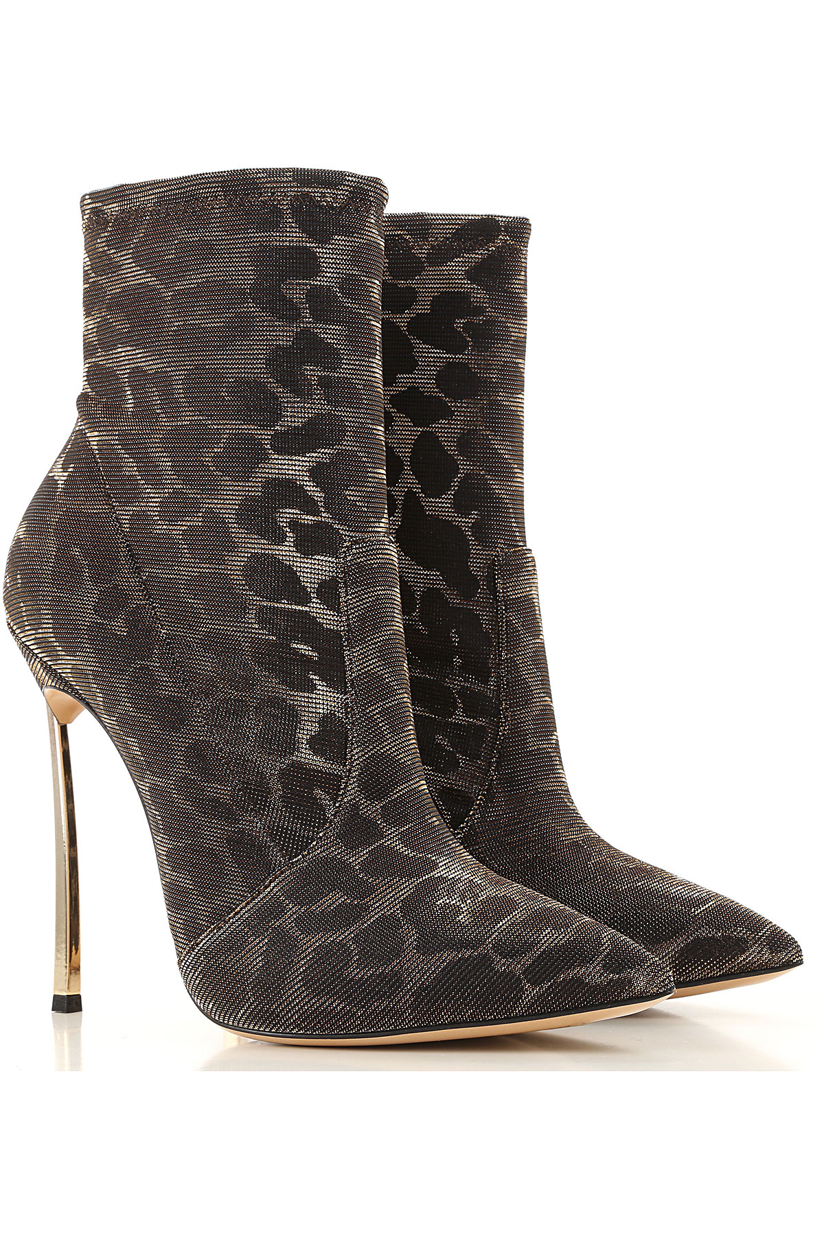 Casadei Boots for Women, Booties On Sale, Leopard Brown, Leather, 2019, 7 8 9