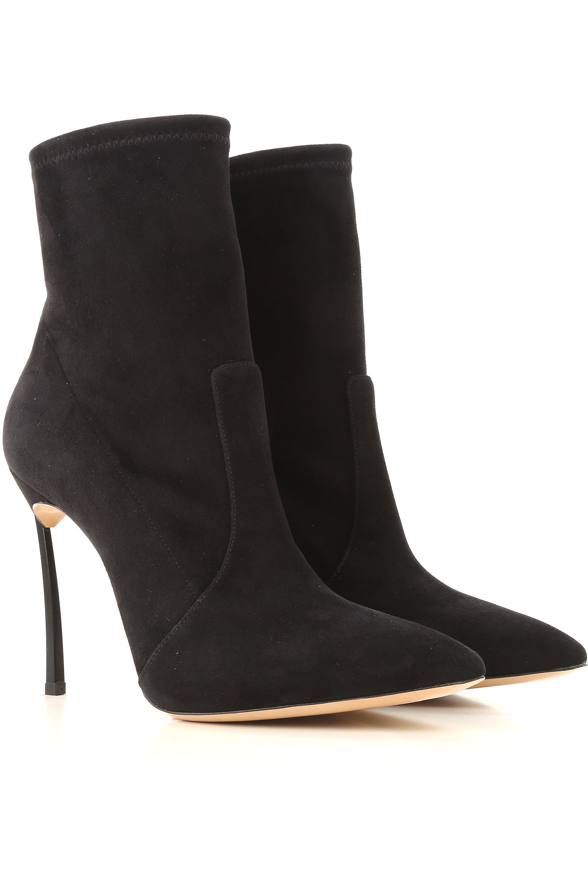 Image of Casadei Boots for Women, Booties, Black, Suede leather, 2017, 10 6.5 7 8.5