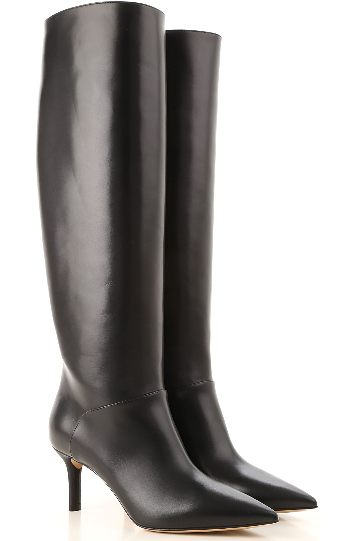 Image of Casadei Boots for Women, Booties, Black, Leather, 2017, 10 6 7 8 9