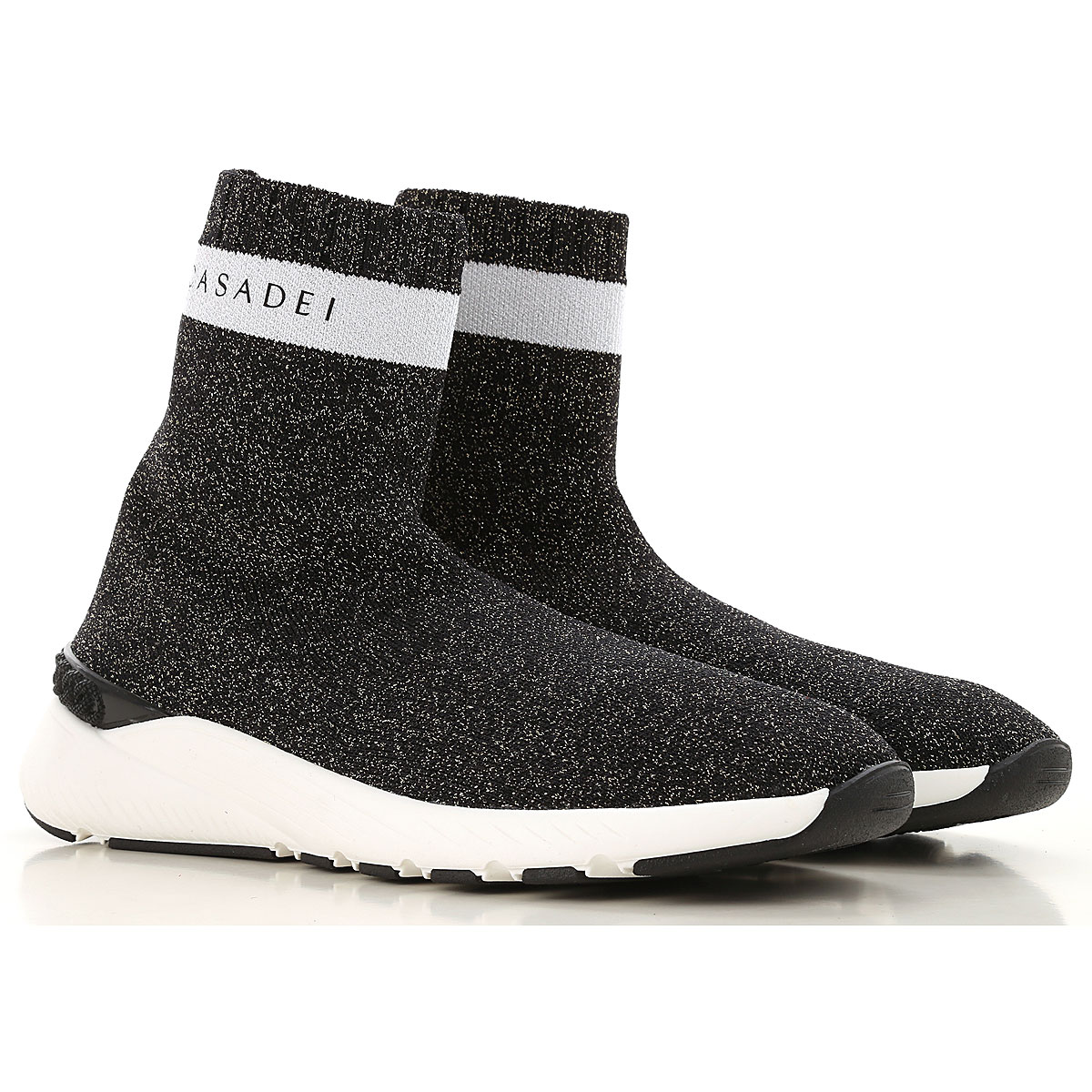 Casadei Boots for Women, Booties On Sale in Outlet, Black, Fabric, 2019, 5.5 7