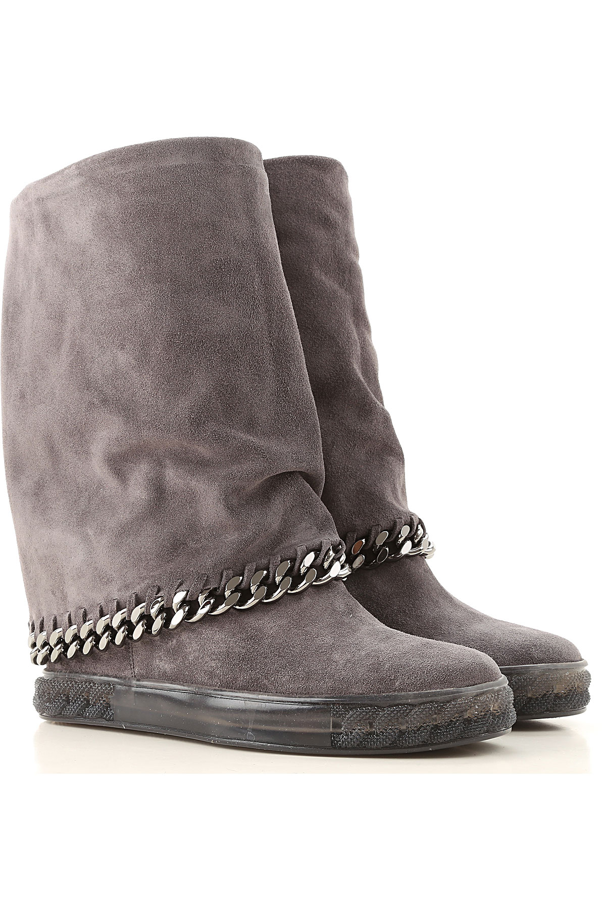 Casadei Boots for Women, Booties On Sale, Rock Grey, Suede leather, 2019, 10 11 6 6.5 8 8.5 9