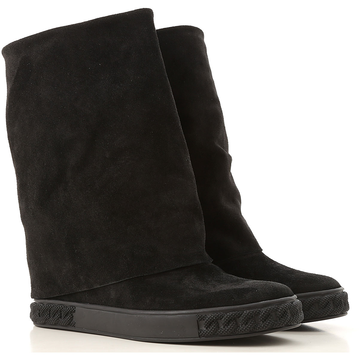 Image of Casadei Boots for Women, Booties, Black, Suede leather, 2017, 10 5 6 7 8 9
