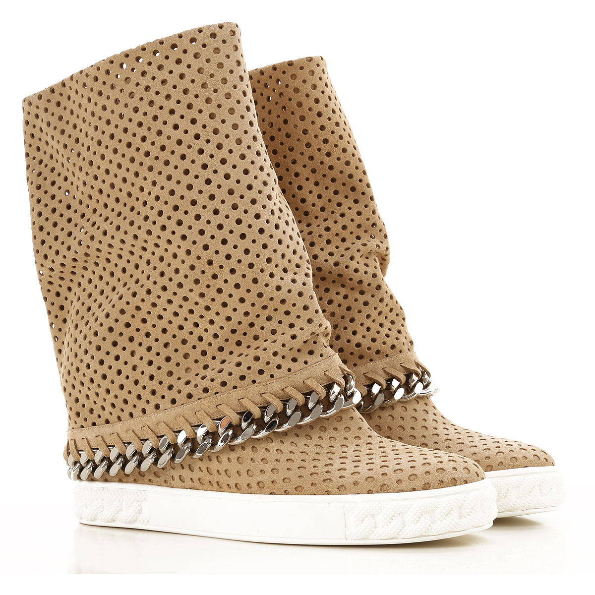 Image of Casadei Boots for Women, Booties On Sale, Sand, Suede leather, 2017, 6 7 8