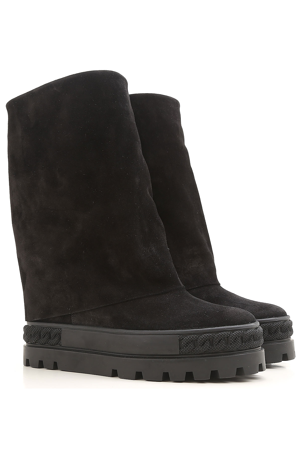 Image of Casadei Boots for Women, Booties, Black, Suede leather, 2017, 10 6 6.5 7 8 8.5 9 9.5
