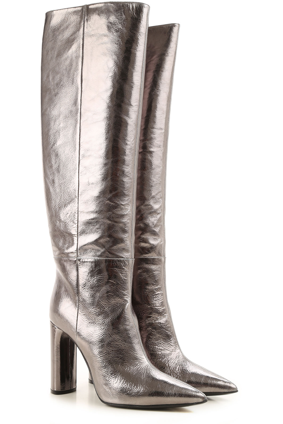 Casadei Boots for Women, Booties On Sale, Silver, Leather, 2019, 10 11 7 9