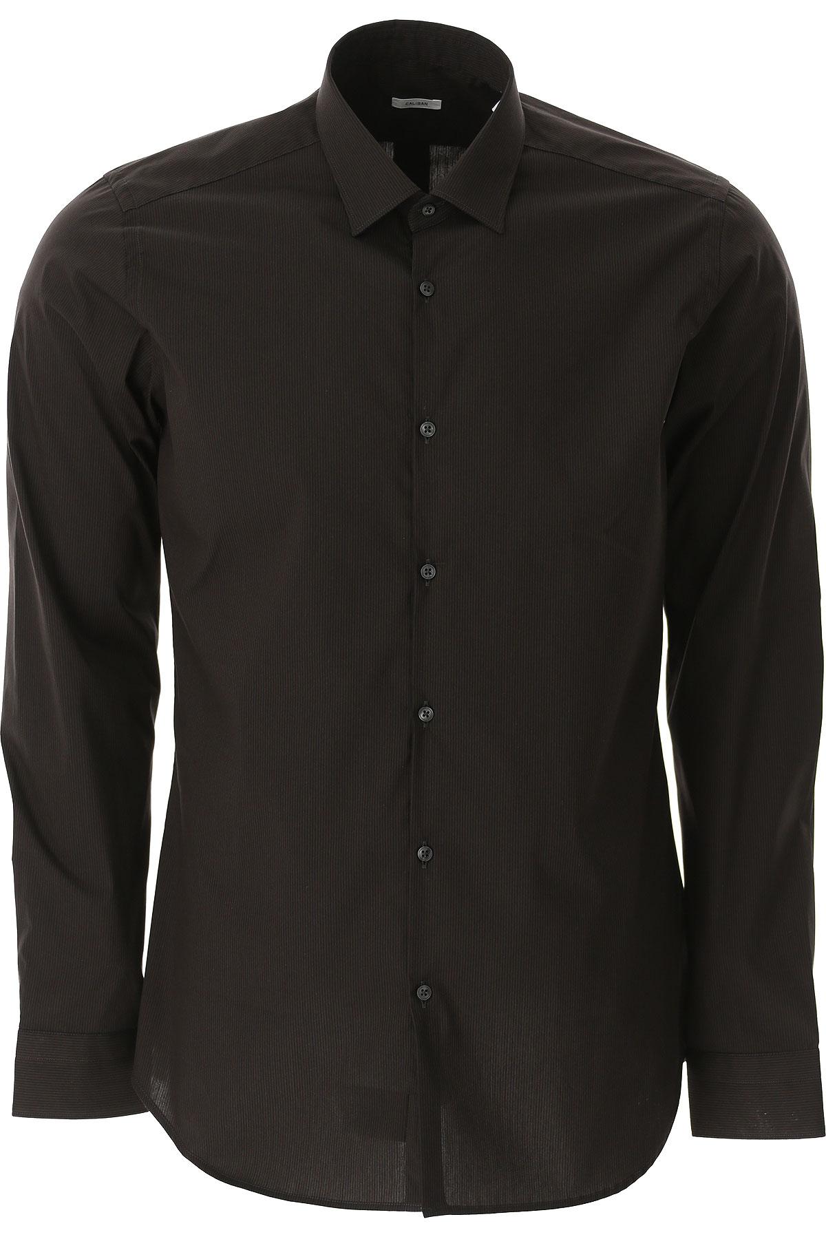 Caliban Shirt for Men On Sale, Black, Cotton, 2019, 15 15.75 16 17 17.5