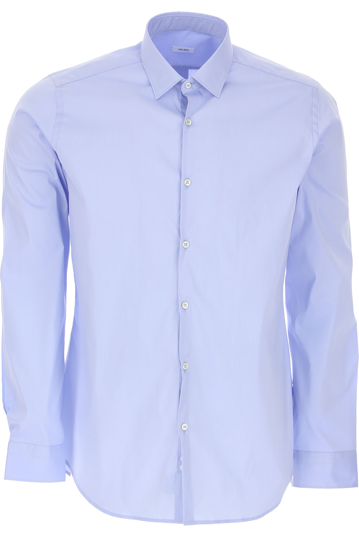 Caliban Shirt for Men On Sale, Azure, Cotton, 2019, 15 15.5 15.75 16 16.5 17 17.5
