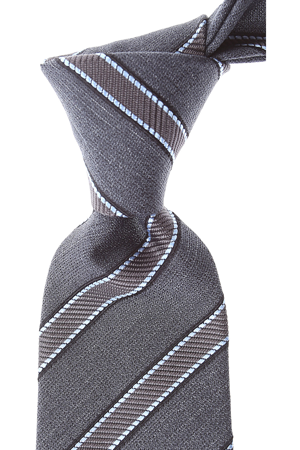 Canali Ties On Sale, Anthracite Grey Melange, Silk, 2019
