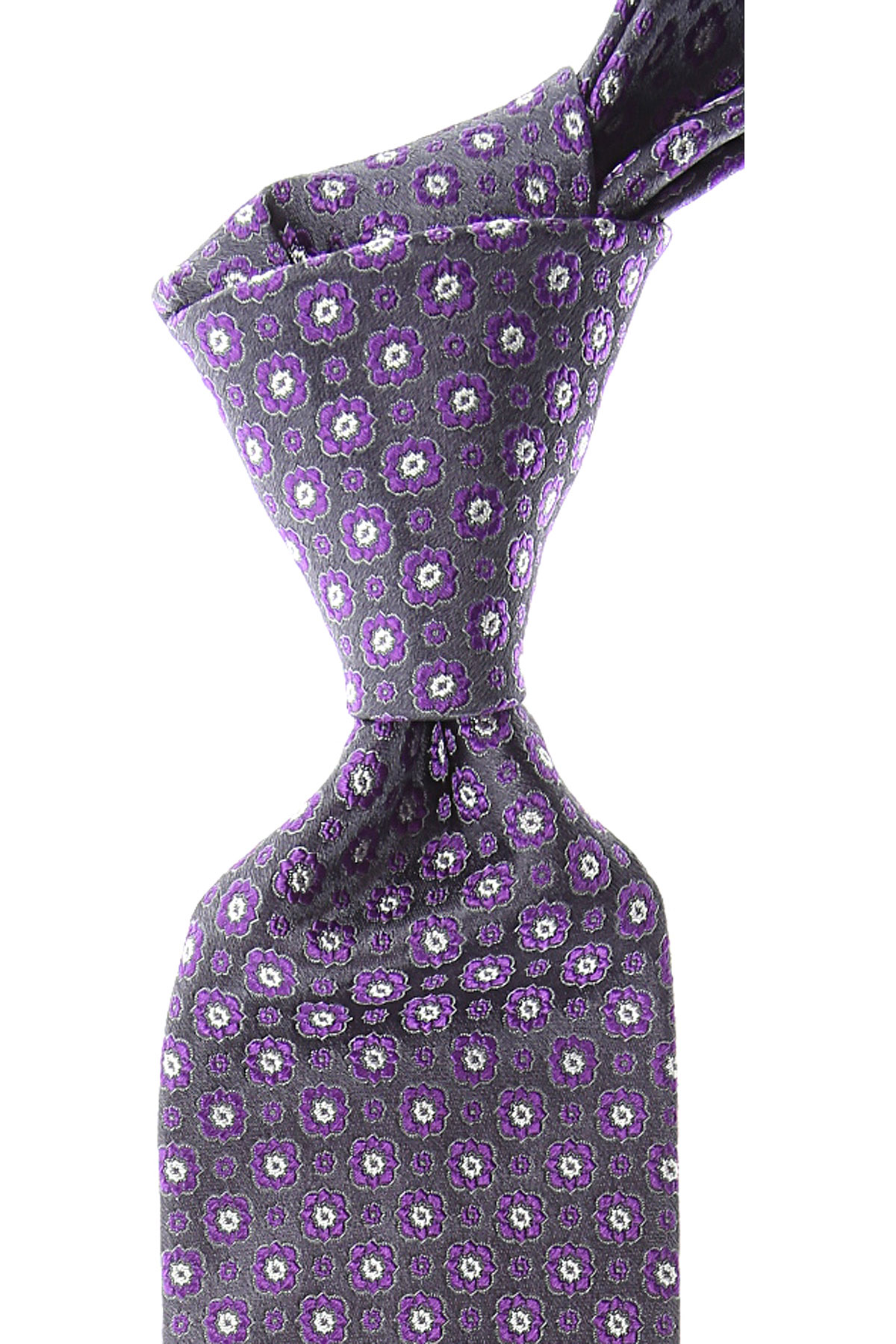 Canali Ties On Sale, Dark Anthracite Grey, Silk, 2019