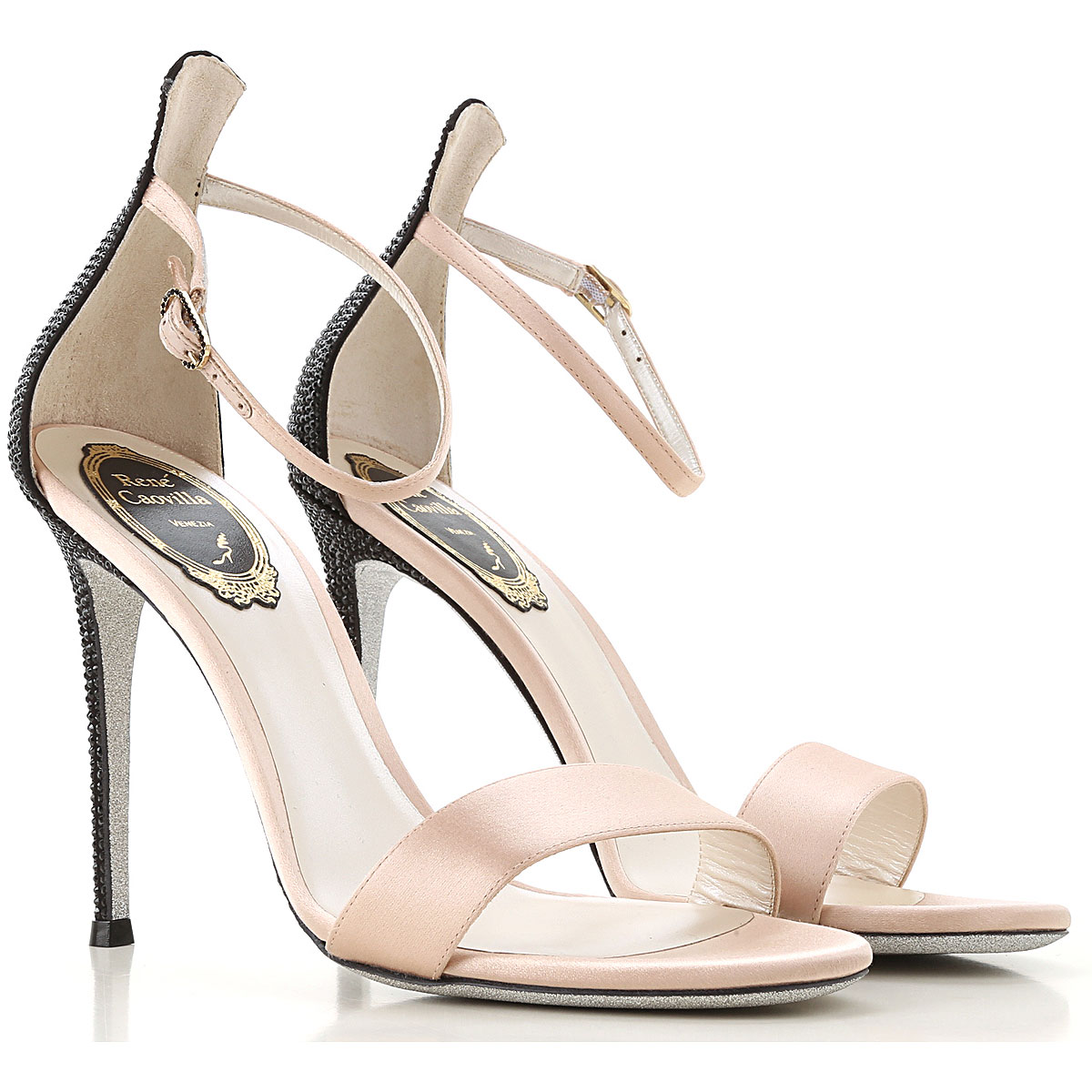 Rene Caovilla Sandals for Women On Sale, Nude, Strass, 2019, 6 7 8 8.5 9