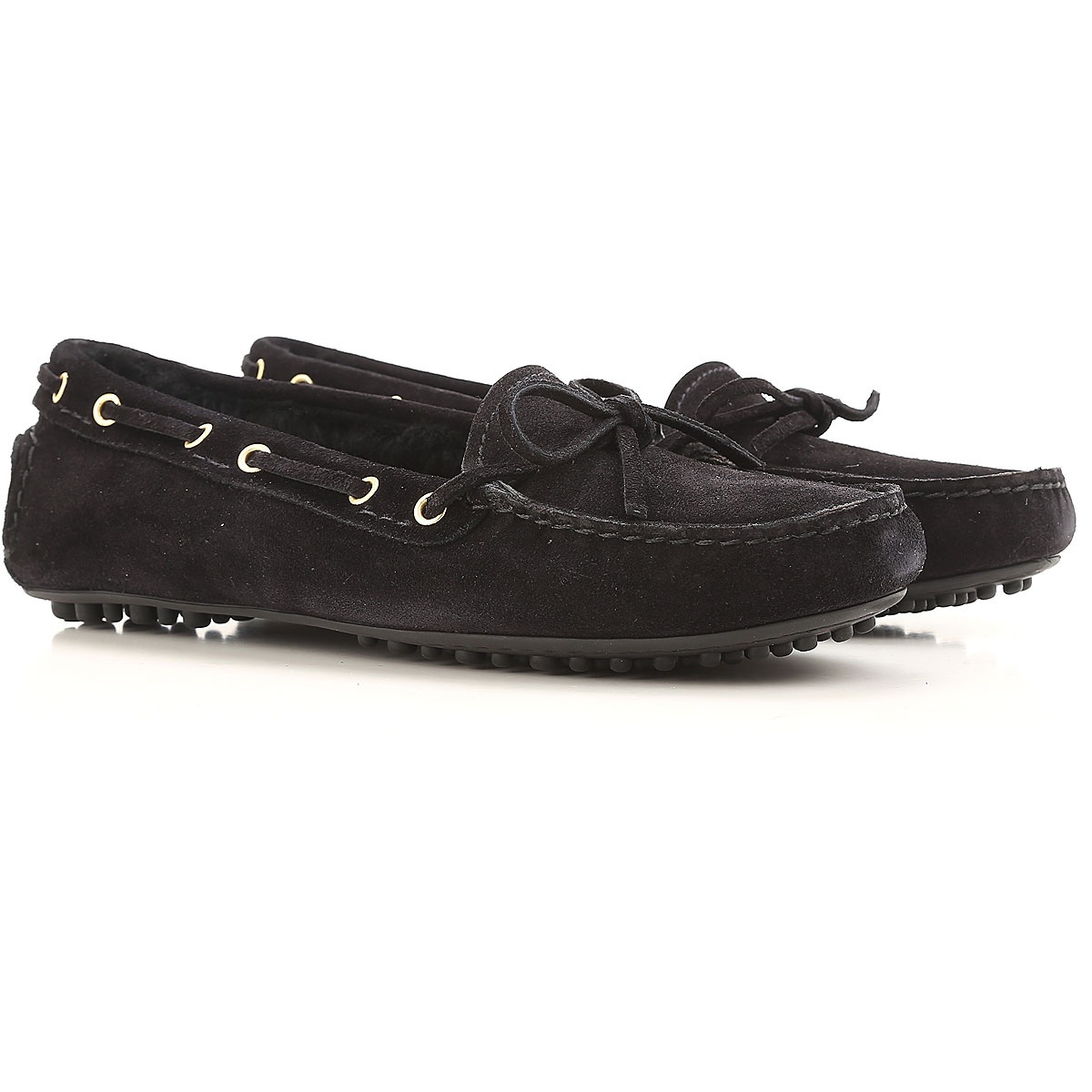 Image of Car Shoe Loafers for Women On Sale in Outlet, Black, suede, 2017, 5 6.5 7 8.5