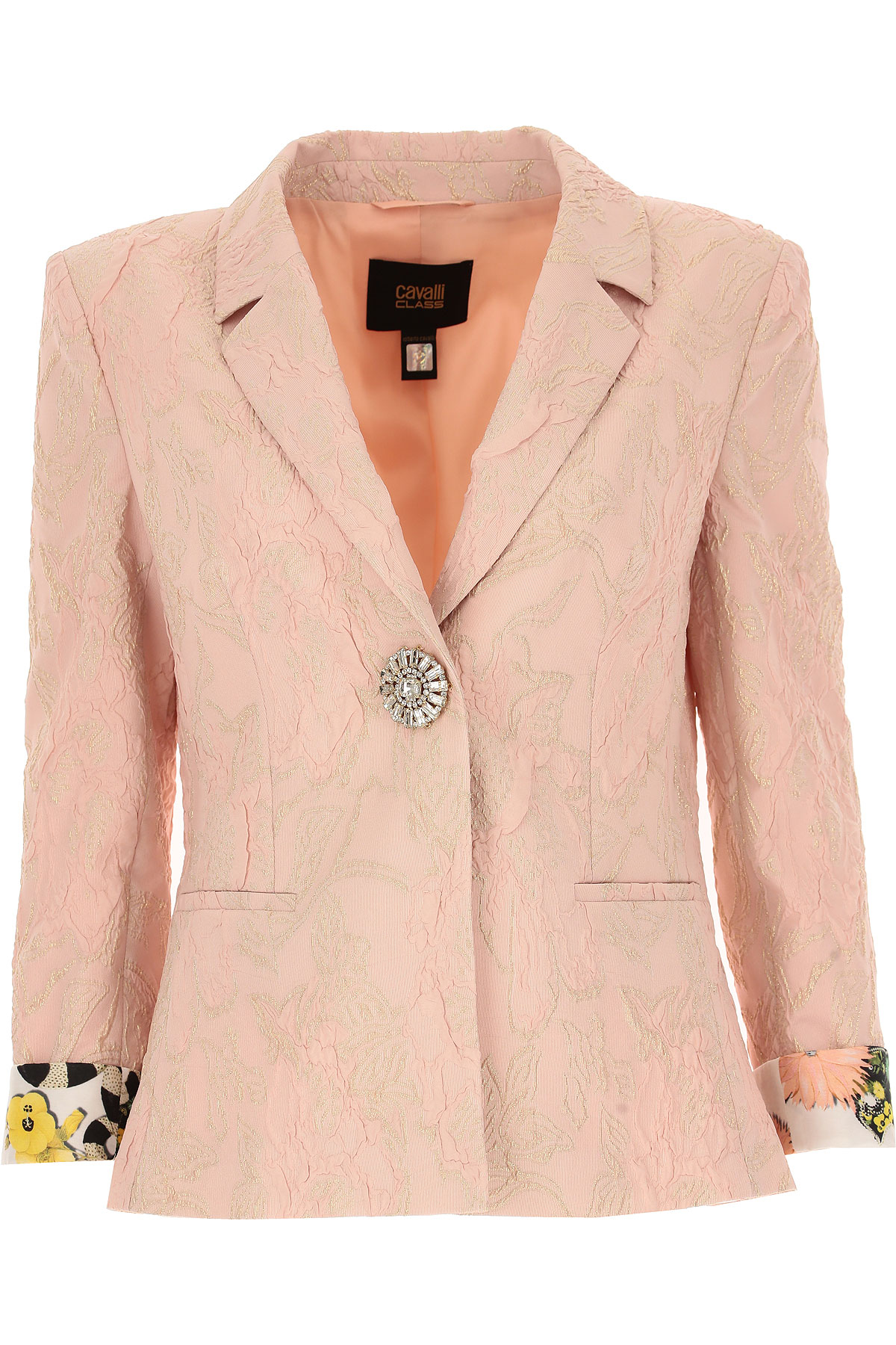 Image of Roberto Cavalli Blazer for Women On Sale, Dust Rose, polyamide, 2017, 10 12 6 8