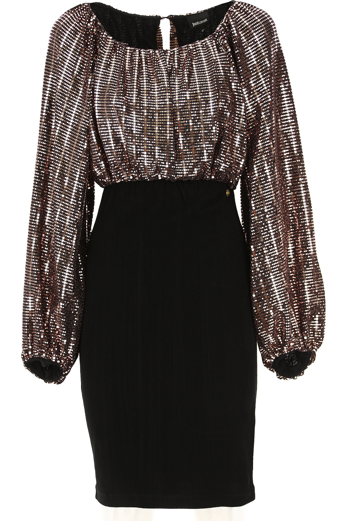 Roberto Cavalli Dress for Women, Evening Cocktail Party On Sale, Copper, polyamide, 2019, 4 6 8