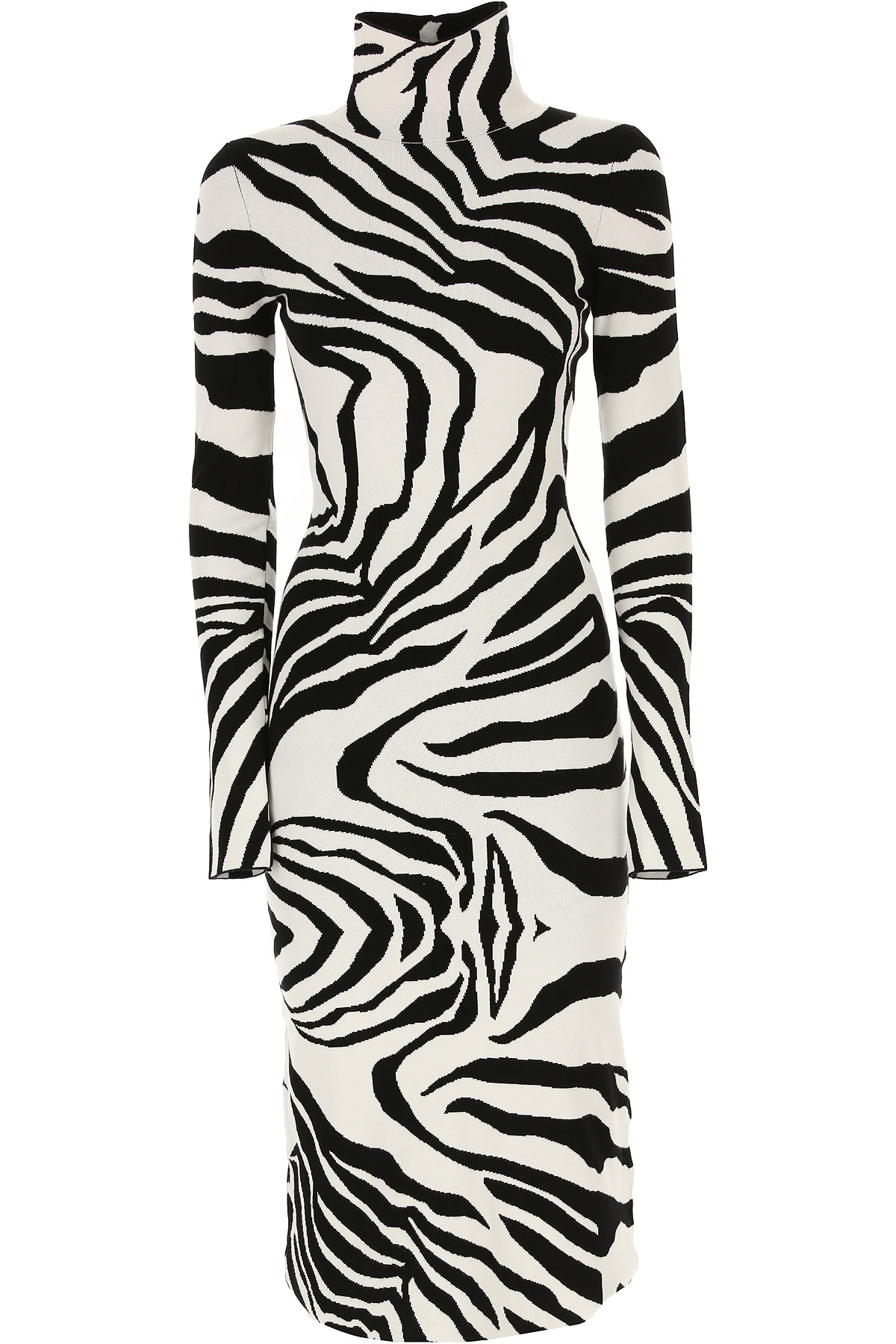 Roberto Cavalli Dress for Women, Evening Cocktail Party On Sale, White, Viscose, 2019, 4 6 8
