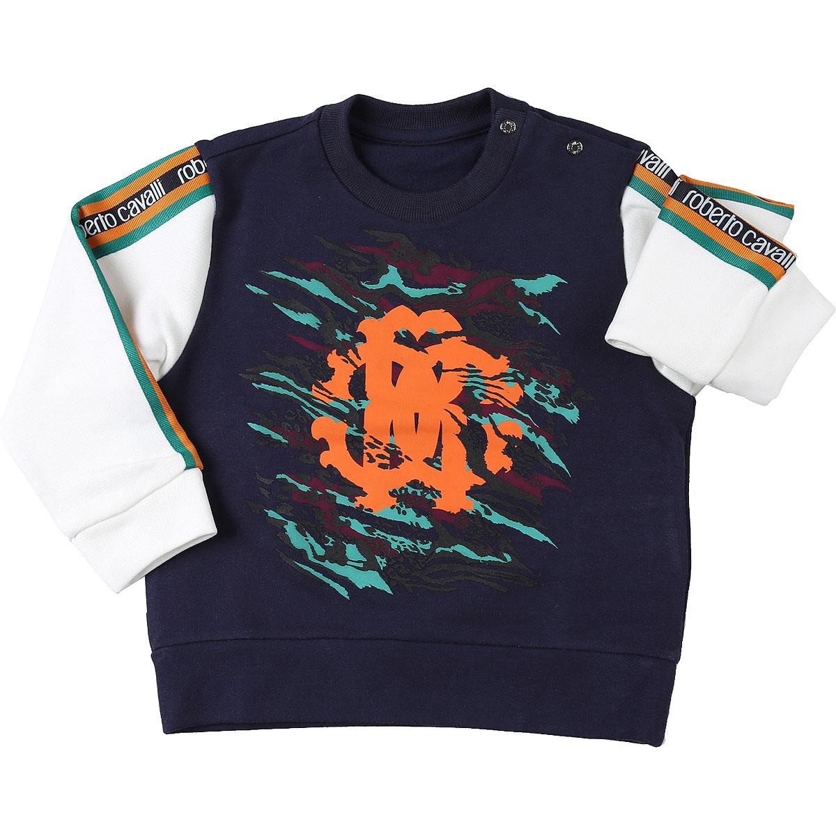 Roberto Cavalli Baby Sweatshirts & Hoodies for Boys On Sale, Blue, Cotton, 2019, 12 M 18M 2Y 3Y