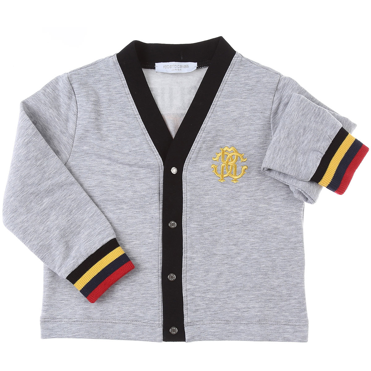 Roberto Cavalli Baby Sweaters for Boys On Sale, Grey, Cotton, 2019, 12 M 18M 2Y 3Y
