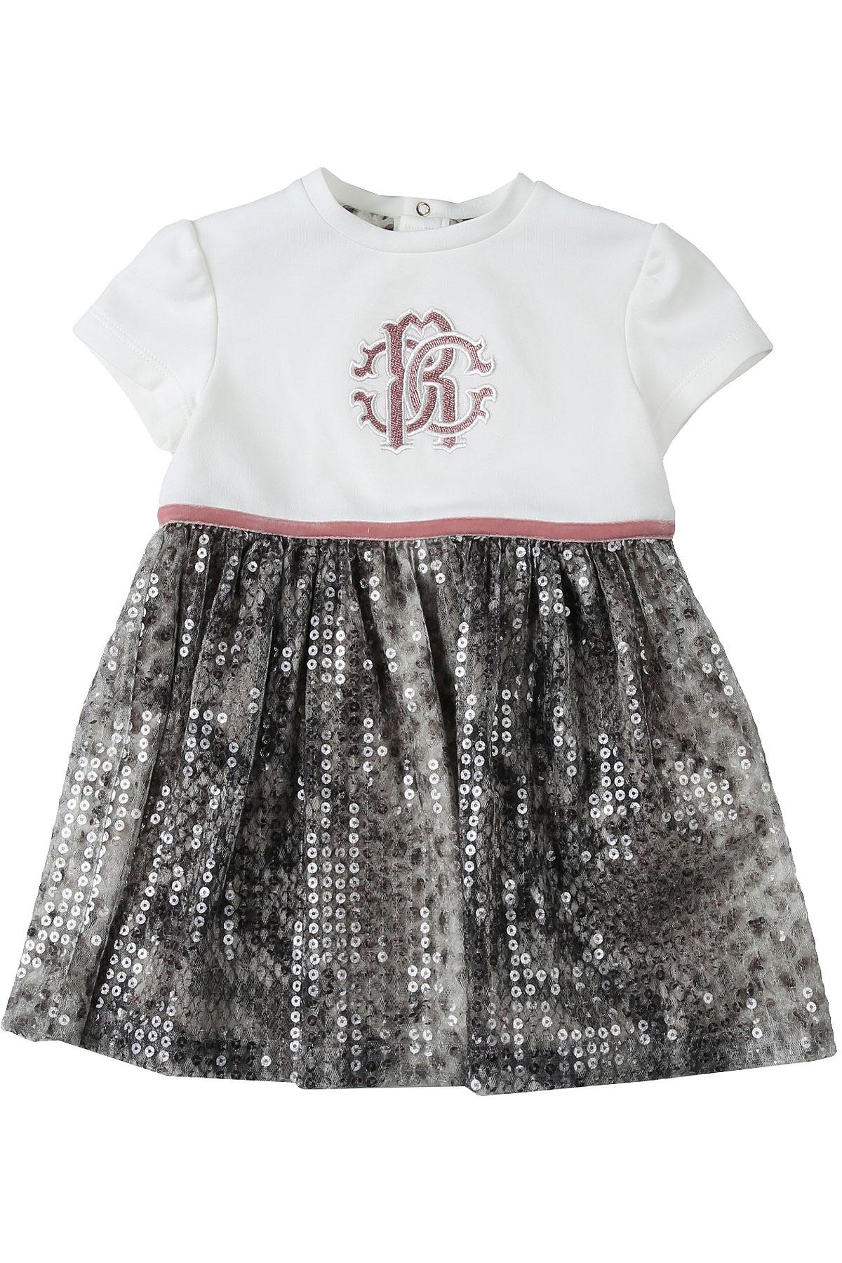 Roberto Cavalli Baby Dress for Girls On Sale, Cream, Cotton, 2019, 12M 18M 2Y 3Y