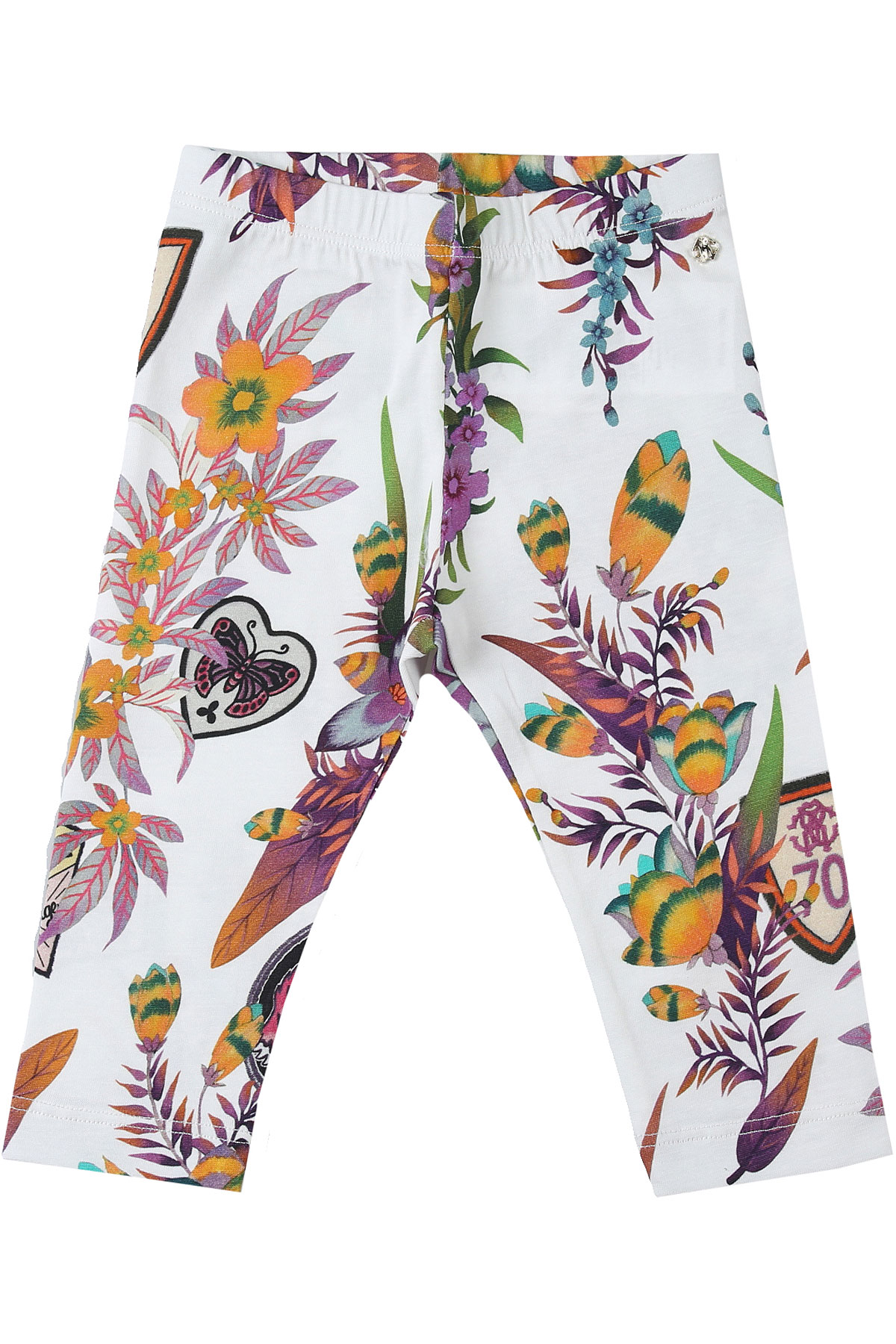 Roberto Cavalli Baby Pants for Girls On Sale, Cream, Cotton, 2019, 12M 18M 2Y 3Y