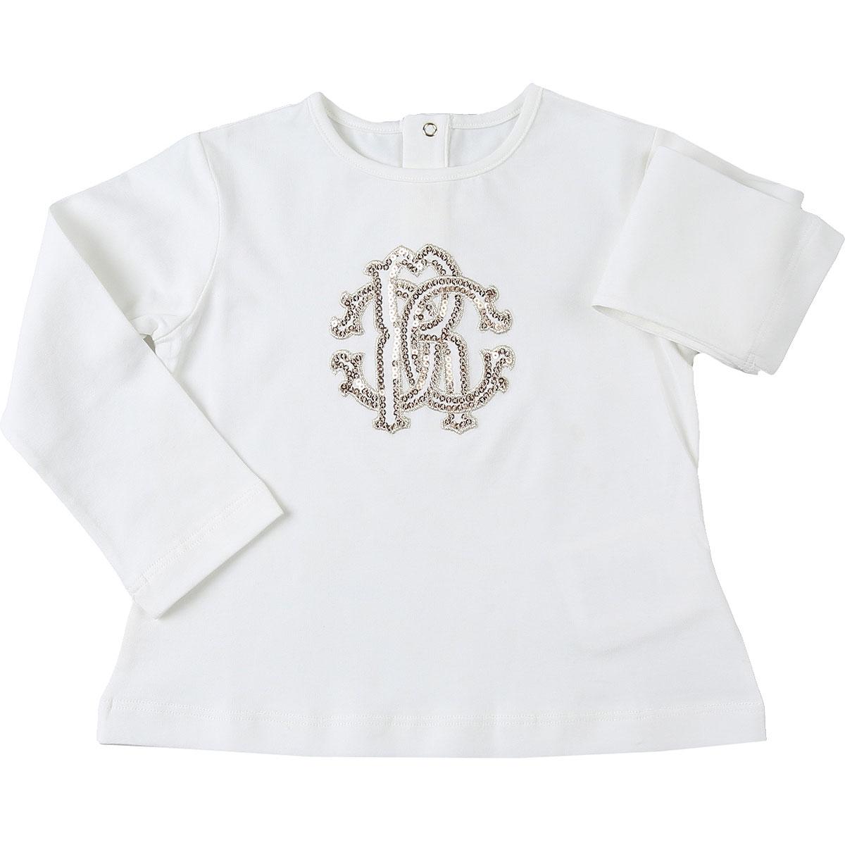 Roberto Cavalli Baby T-Shirt for Girls On Sale, Cream, Cotton, 2019, 12M 18M 2Y 3Y