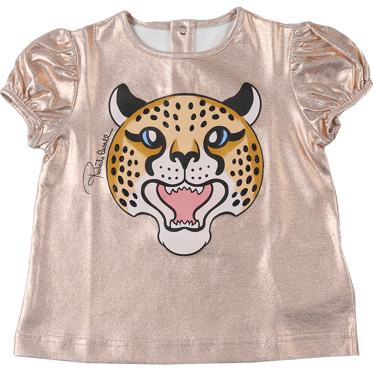 Roberto Cavalli Baby T-Shirt for Girls On Sale, Bronze, Cotton, 2019, 12M 18M 2Y 3Y