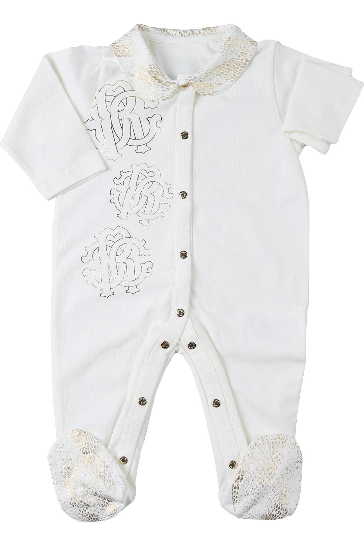 Roberto Cavalli Baby Bodysuits & Onesies for Girls On Sale, Cream, Cotton, 2019, 1M 3M
