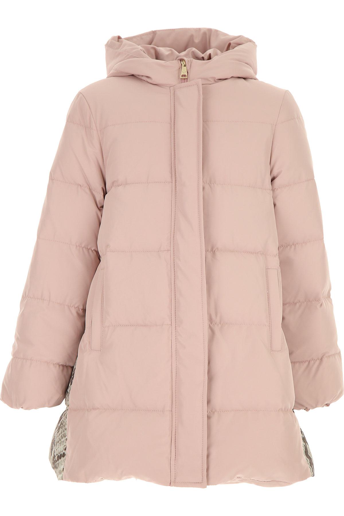 Roberto Cavalli Girls Down Jacket for Kids, Puffer Ski Jacket On Sale, Pink, polyester, 2019, L M S