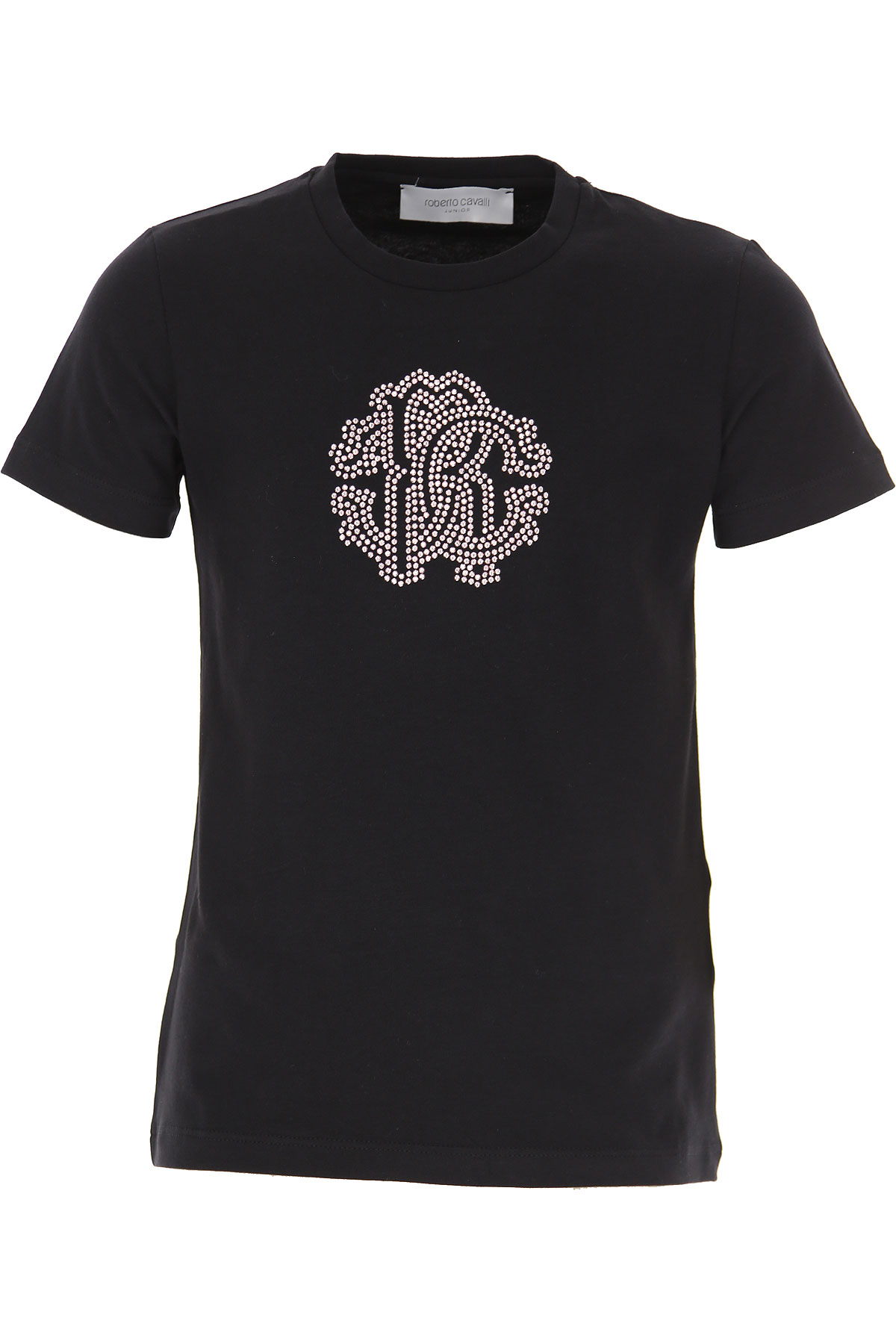 Roberto Cavalli Kids T-Shirt for Girls On Sale, Black, Cotton, 2019, 4Y 6Y 8Y M S
