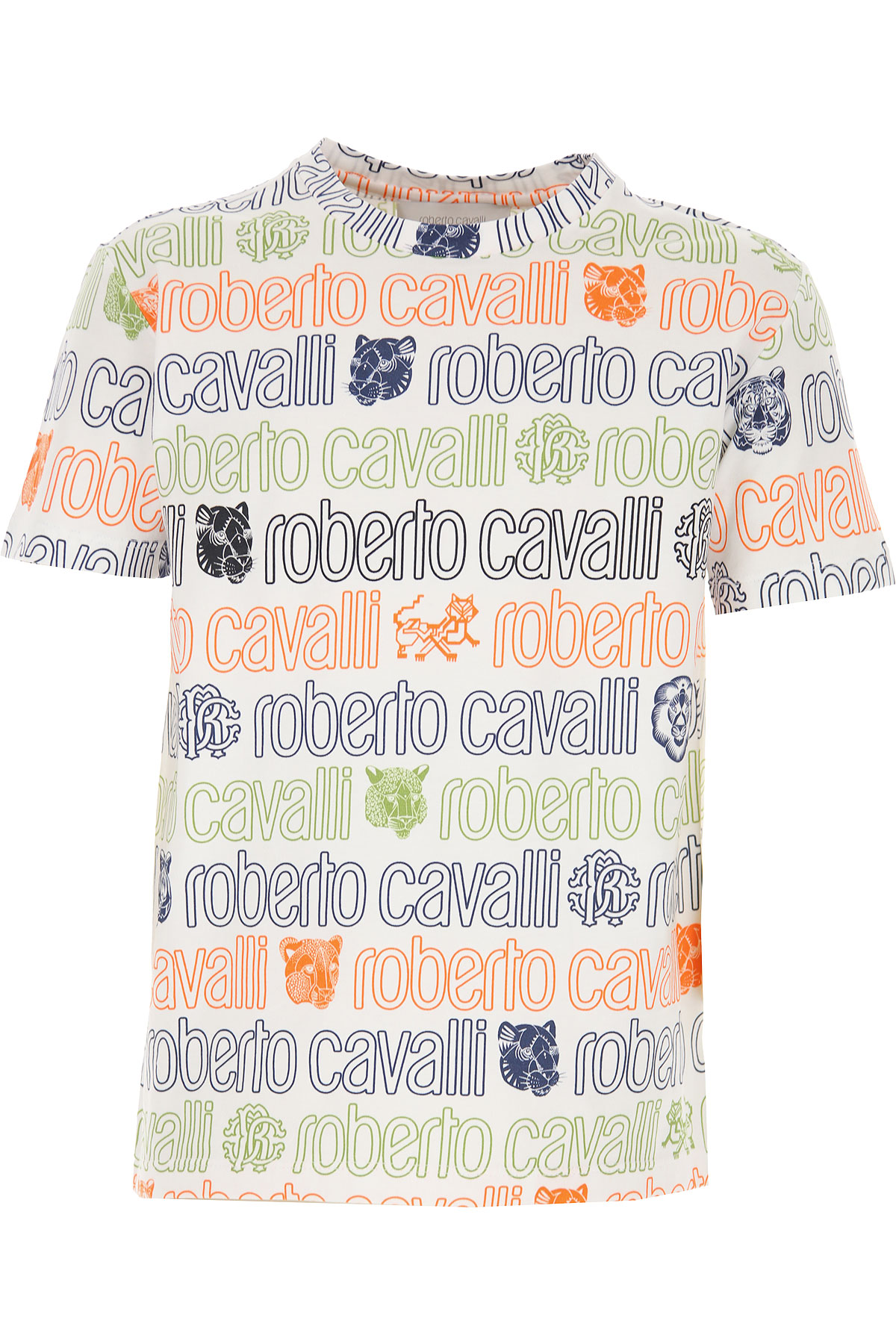 Roberto Cavalli Kids T-Shirt for Boys On Sale, White, Cotton, 2019, 4Y 6Y 8Y M S
