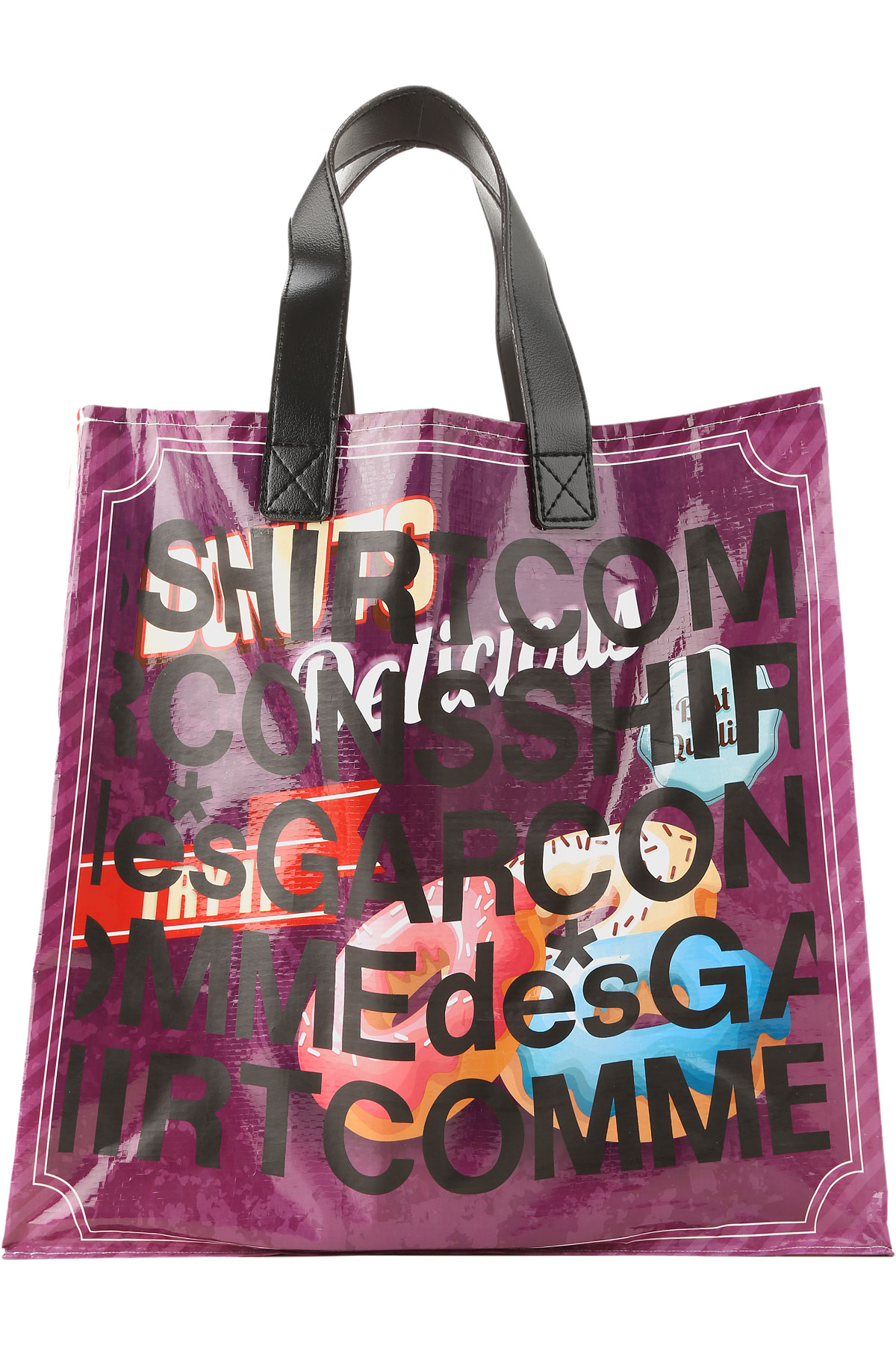 Comme des Garcons Top Handle Handbag, Purple, polypropylene, 2019