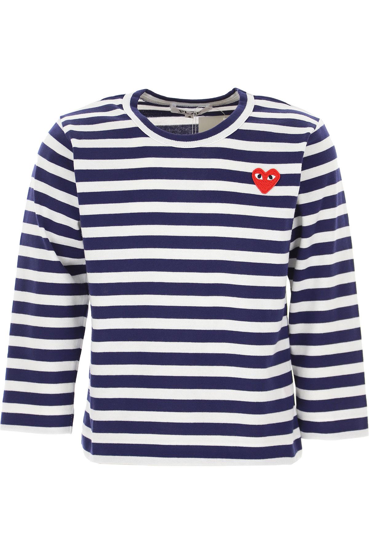 Comme des Garcons Kids T-Shirt for Boys On Sale, Blue, Cotton, 2019, 4Y 6Y