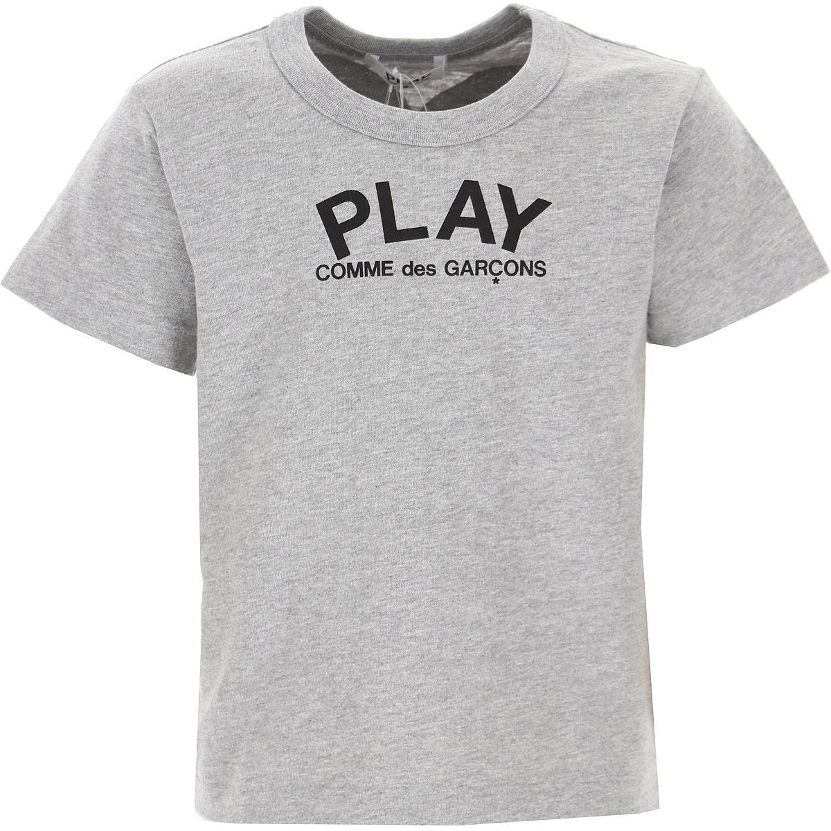Comme des Garcons Kids T-Shirt for Boys On Sale, Grey, Cotton, 2019, 2Y 4Y 6Y