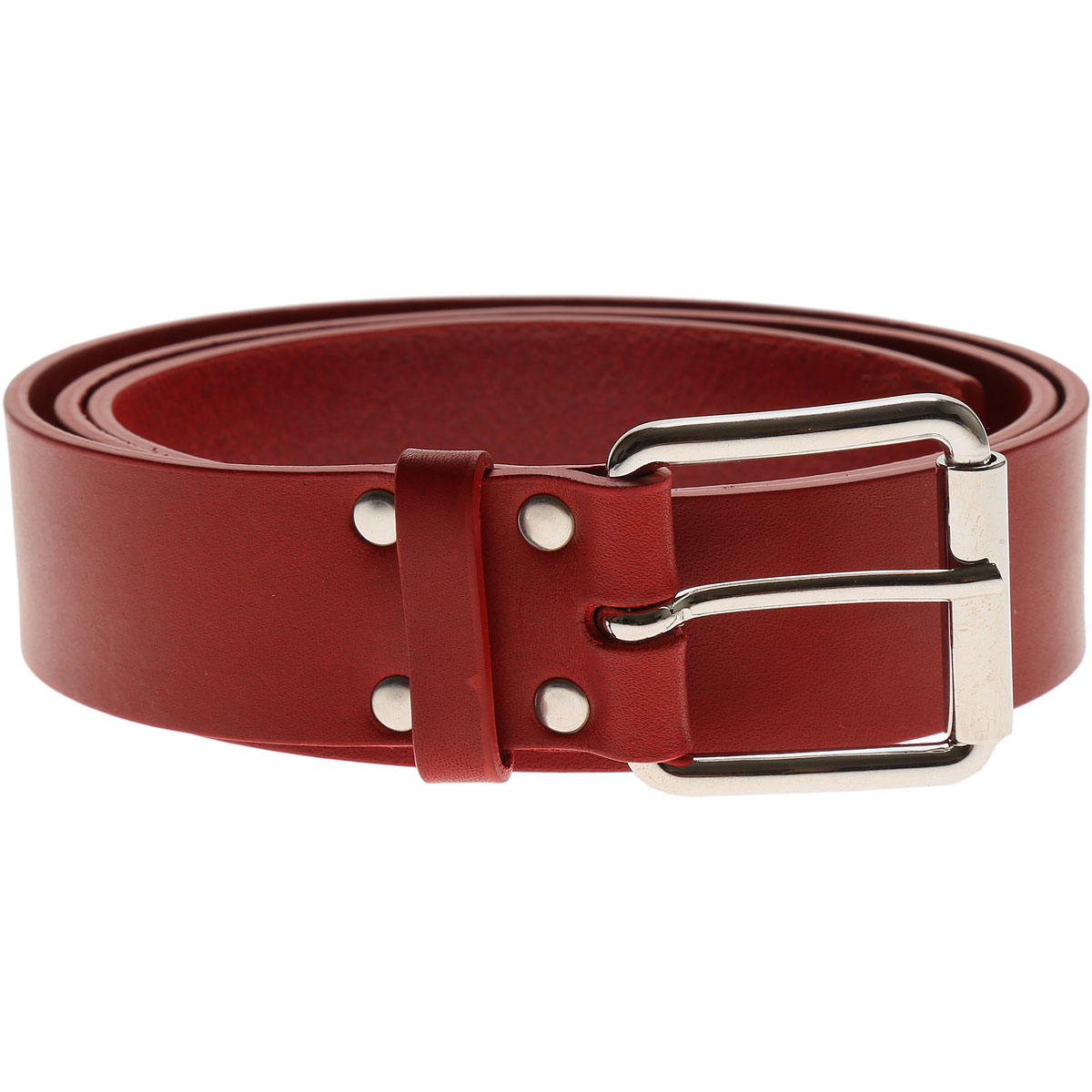 Image of Comme des Garcons Mens Belts, Red, Leather, 2017