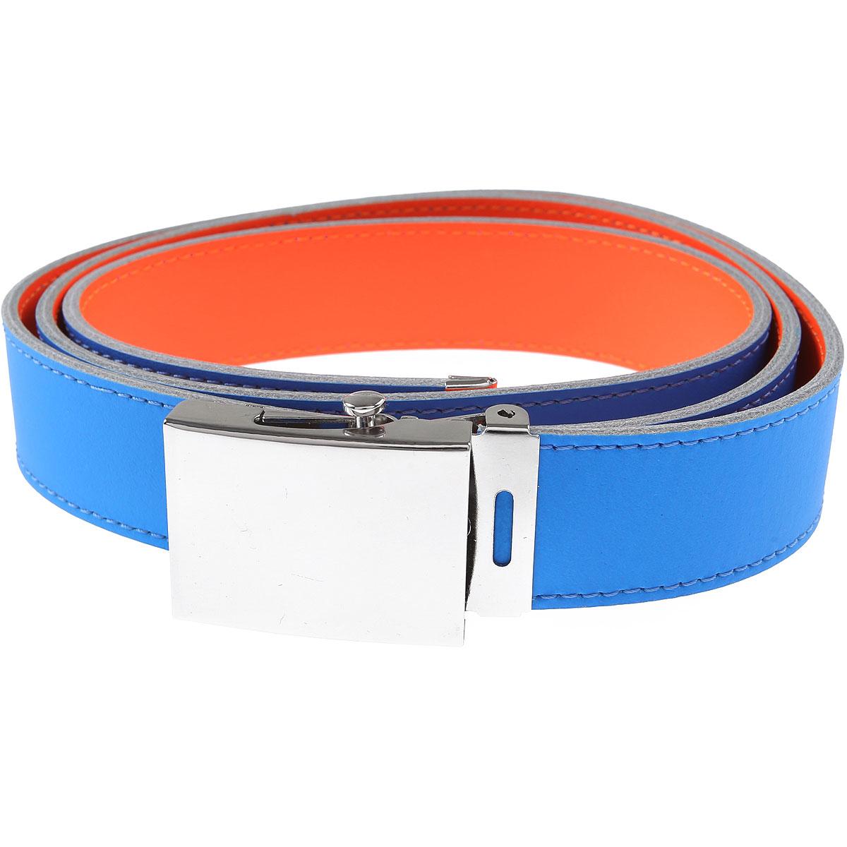 Comme des Garcons Belts On Sale, Fluo Blue, Leather, 2019