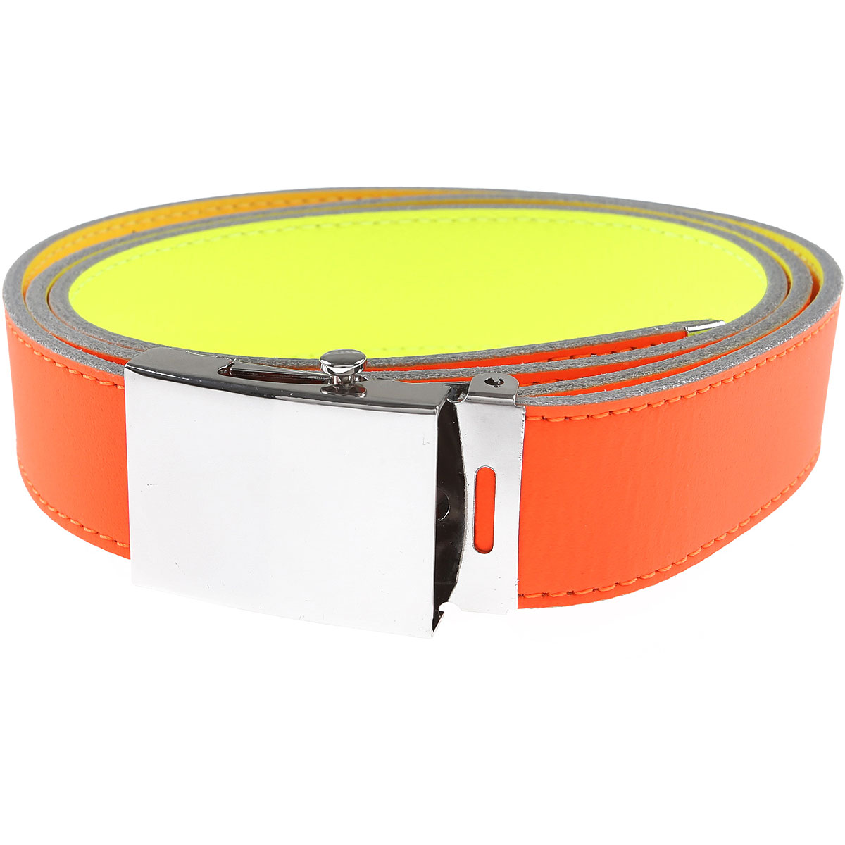 Comme des Garcons Belts On Sale, fluo yellow, Leather, 2019