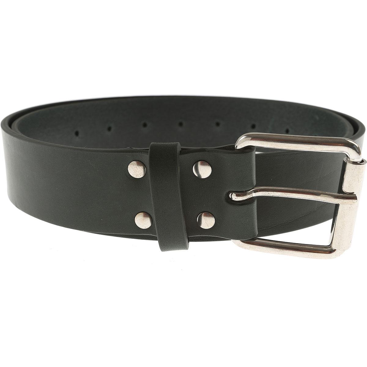 Image of Comme des Garcons Mens Belts, Dark Green, Leather, 2017