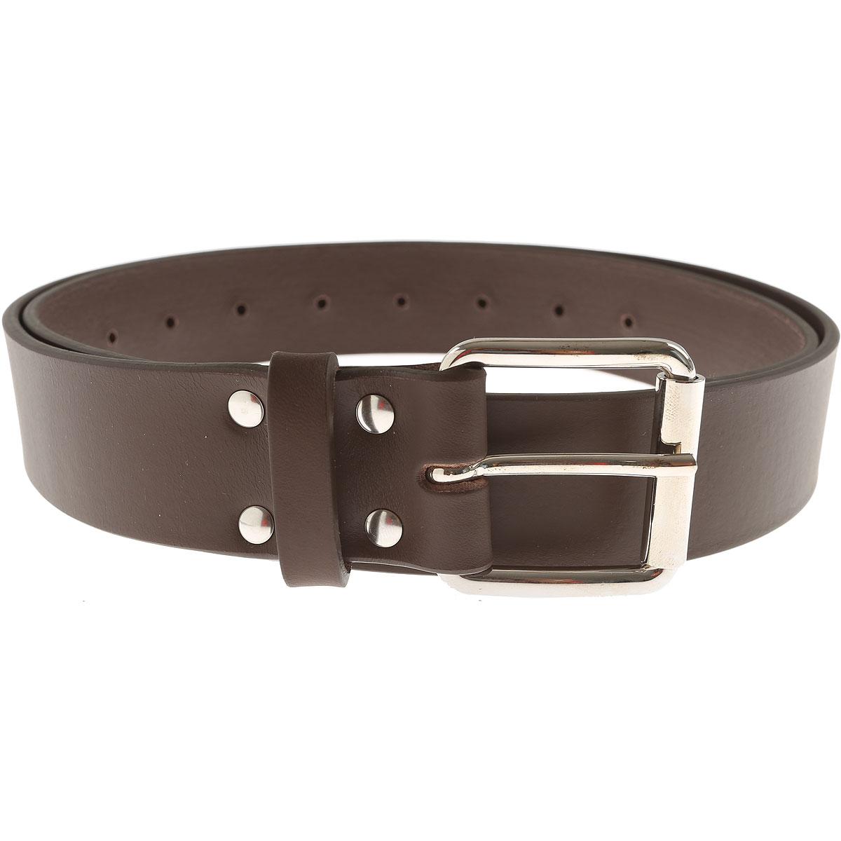 Image of Comme des Garcons Mens Belts, Brown, Leather, 2017