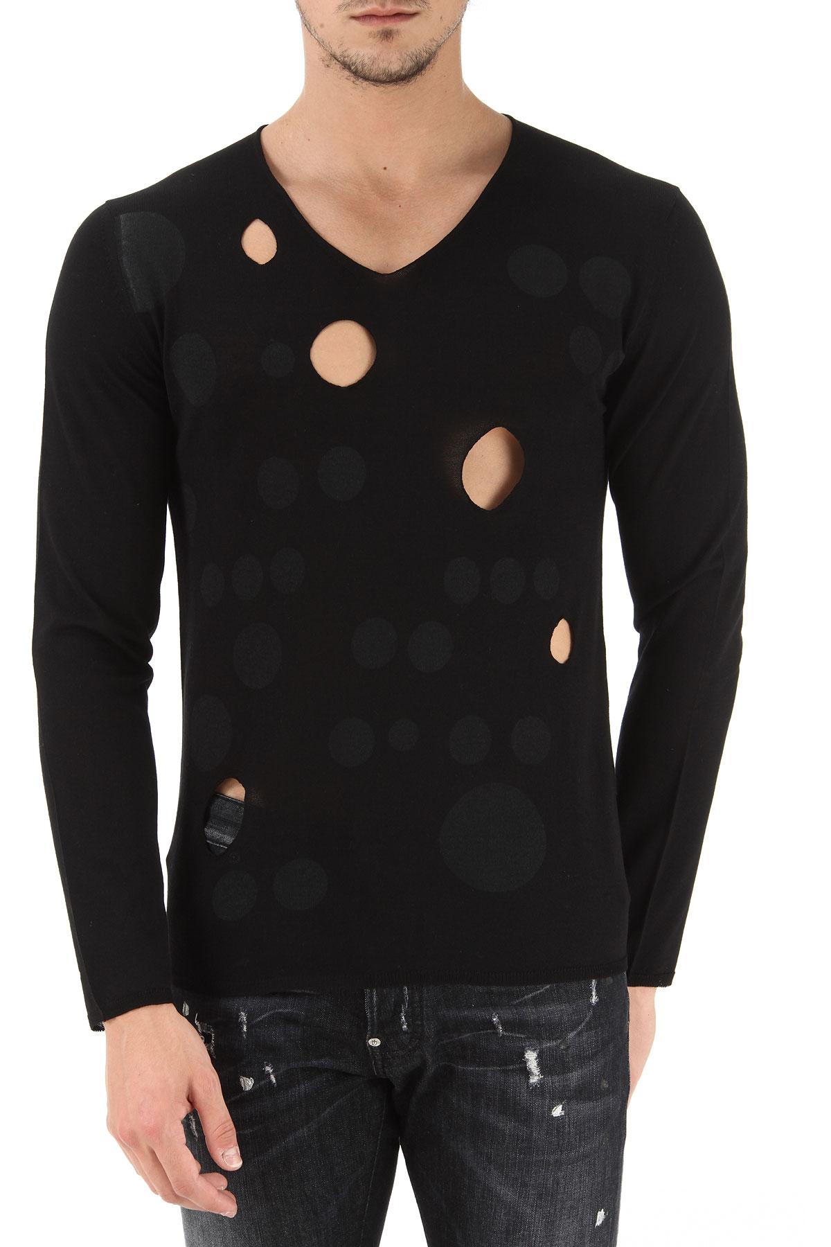 Comme des Garcons Sweater for Men Jumper On Sale, Black, Wool, 2017, L S XL USA-359497