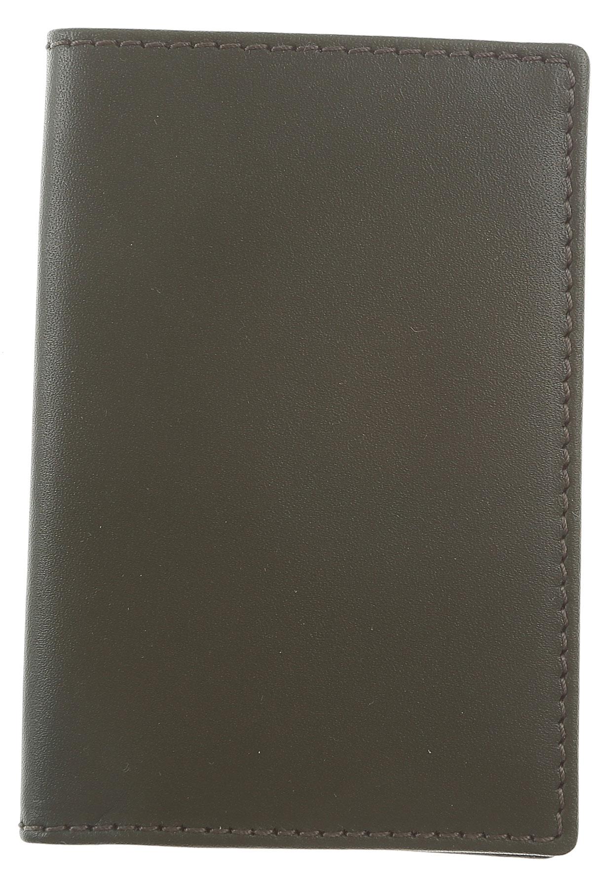 Image of Comme des Garcons Card Holder for Men, Dark Green, Leather, 2017